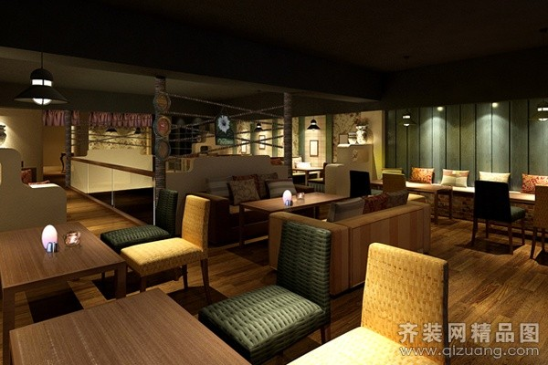 酒吧现代简约装修效果图实景图