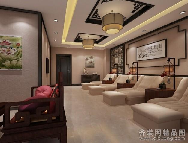 1500平米普通户型中式风格家装装修图片设计-郑州齐