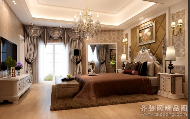 280平米别墅欧式风格家装装修图片设计-金华齐装网