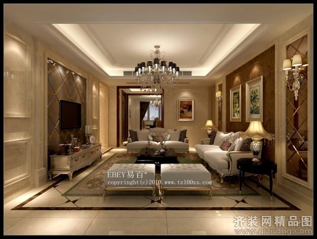 140平米普通户型欧式风格家装装修图片设计-台州齐装