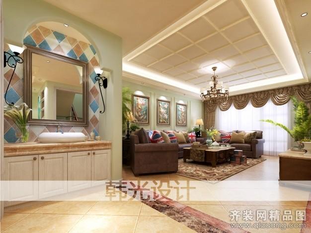 300平米别墅欧式风格家装装修图片设计-青岛齐装网