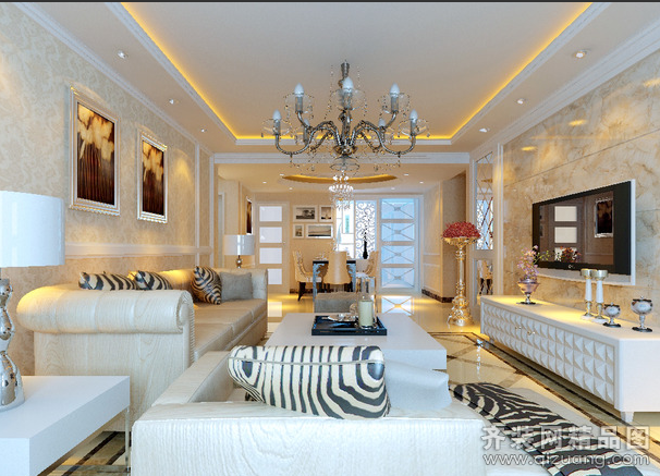 140平米普通户型欧式风格家装装修图片设计-张家港齐
