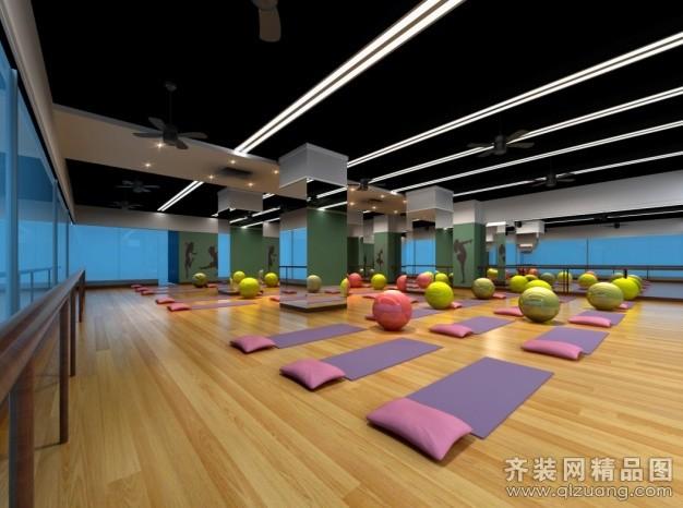 瑜伽馆现代简约装修效果图实景图