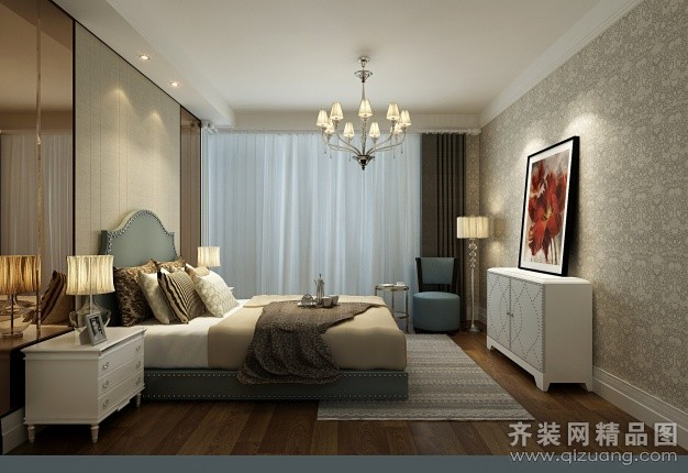105平米普通户型欧式风格家装装修图片设计-南通齐装