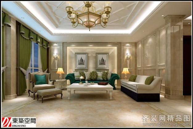 430平米复式户型欧式风格家装装修图片设计-江阴齐装