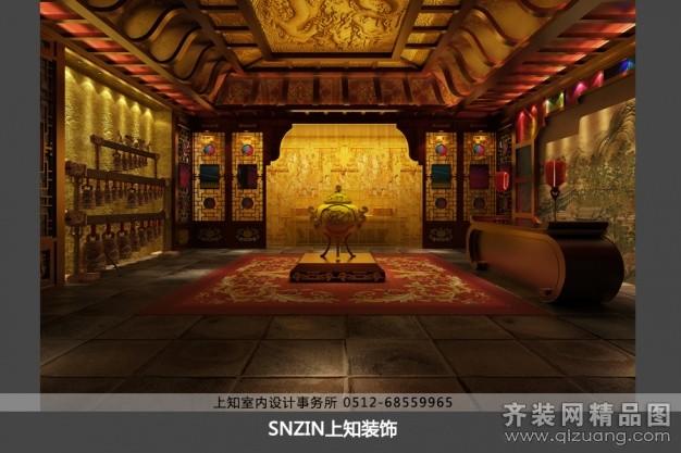 3500平米普通户型中式风格家装装修图片设计-苏州齐装