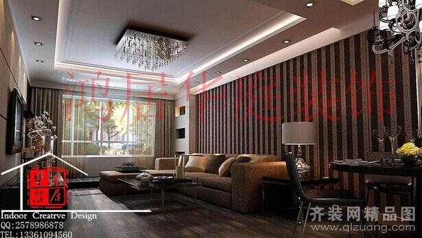 104平米普通户型现代简约家装装修图片设计-济南齐装