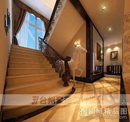 280平米别墅现代简约家装装修图片设计-台州齐装网