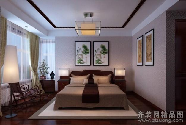 170平米普通户型中式风格家装装修图片设计-济南齐装