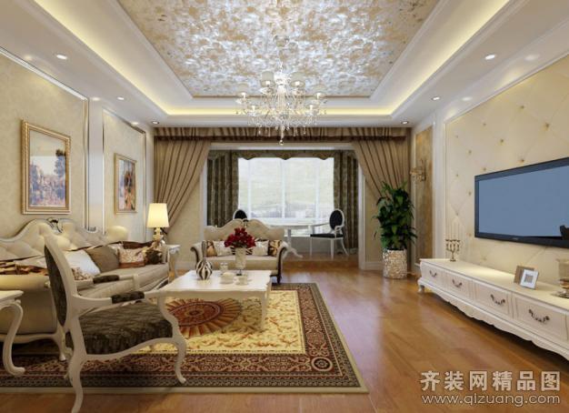 145平米普通户型欧式风格家装装修图片设计-张家港齐