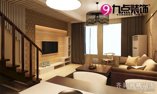 45平米复式户型现代简约家装装修图片设计-合肥齐装网