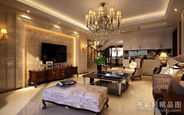 300平米普通户型现代简约家装装修图片设计-厦门齐装