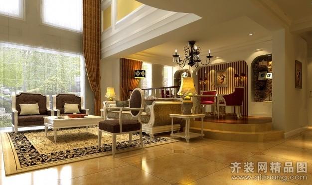 232平米复式户型欧式风格家装装修图片设计-合肥齐装