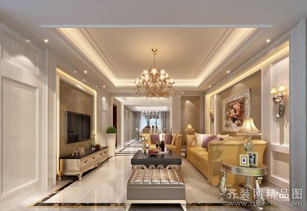 122平米普通户型欧式风格家装装修图片设计-贵阳齐装