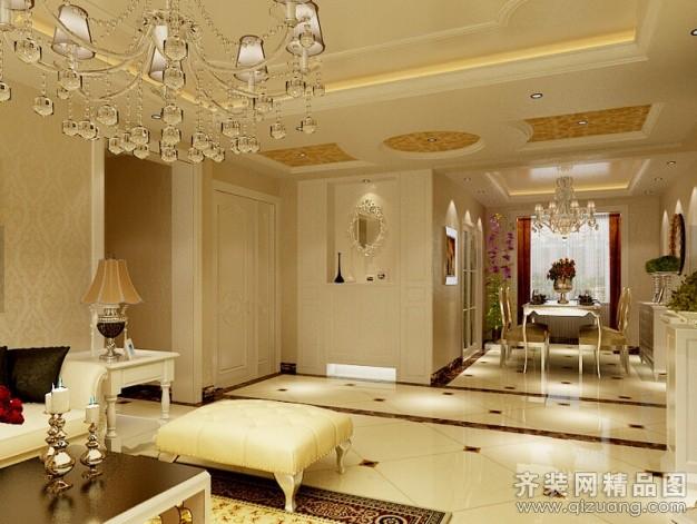 93平米普通户型欧式风格家装装修图片设计-广州齐装
