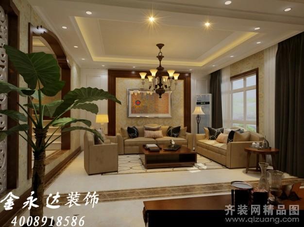 260平米别墅欧式风格家装装修图片设计-天津齐装网