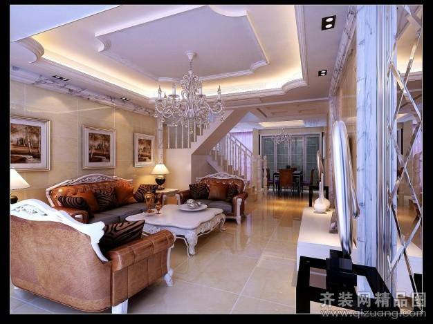 220平米复式户型欧式风格家装装修图片设计-仪征齐装