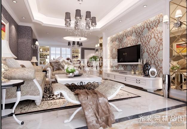 135平米普通户型欧式风格家装装修图片设计-张家港齐