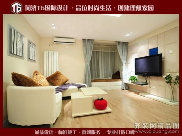 80平米普通户型现代简约家装装修图片设计-无锡齐装网