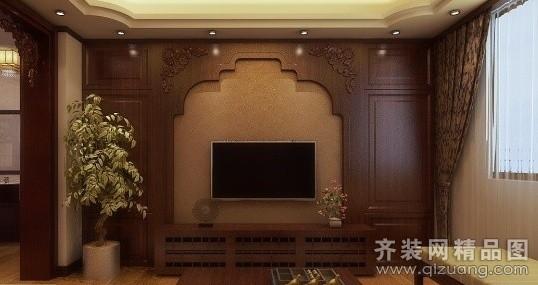 蓝天新苑中式风格装修效果图实景图