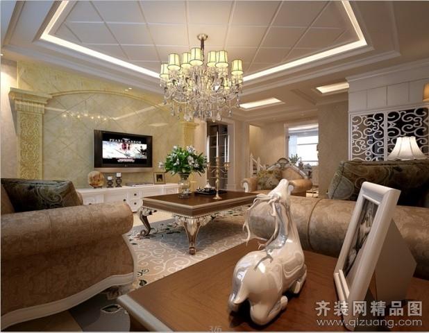 300平米别墅欧式风格家装装修图片设计-昆山齐装网