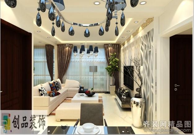 106平米普通户型现代简约家装装修图片设计-南京齐装