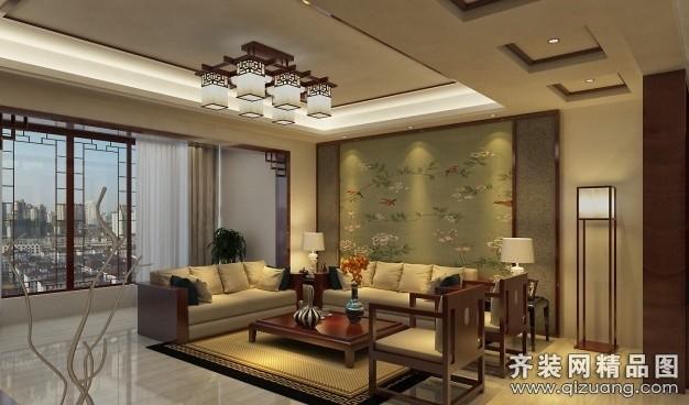 120平米普通户型中式风格家装装修图片设计-淮安齐装