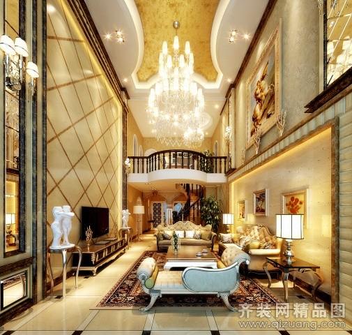 240平米跃层户型欧式风格家装装修图片设计-温州齐装