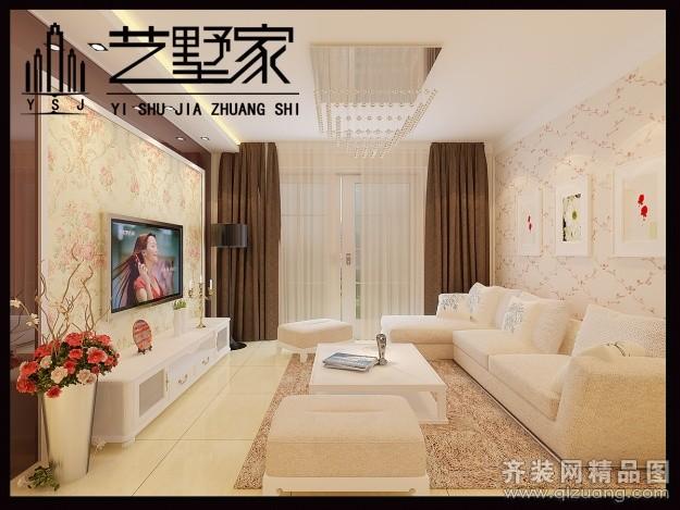 95平米普通户型现代简约家装装修图片设计-济南齐装