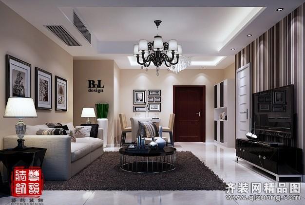 125平米普通户型现代简约家装装修图片设计-南通齐装