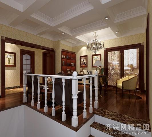 300平米别墅欧式风格家装装修图片设计-南京齐装网