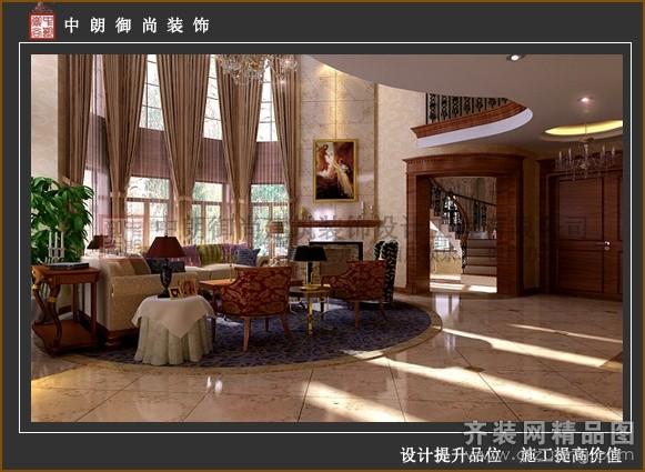420平米别墅欧式风格家装装修图片设计-苏州齐装网