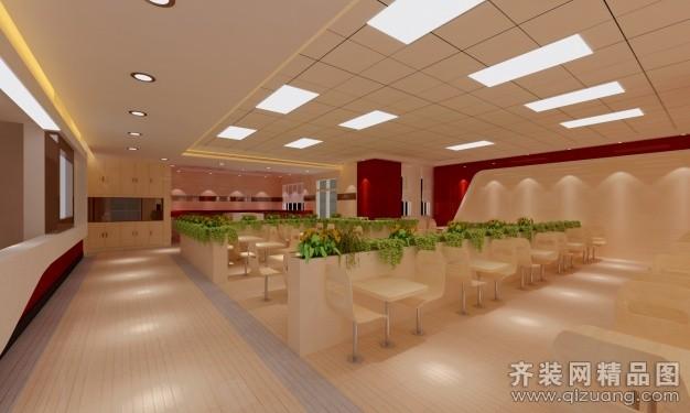 快餐厅现代简约装修效果图实景图