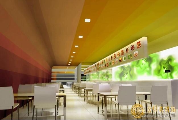 30平米快餐店装修图片