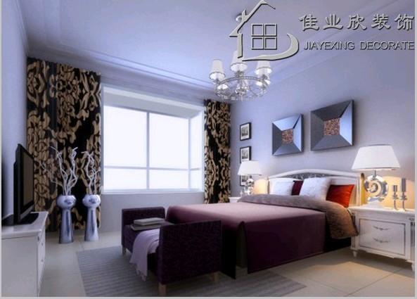卧室   定制入墙柜,简单石膏花线,搭配欧式家具彰显特色.