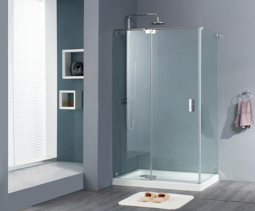 1/4的圆弧形淋浴门适合装在卫间了,生间转角区,这样一来又可以利用不