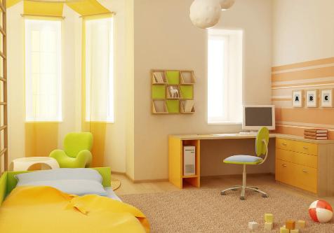 儿童房设计与色彩完美搭配