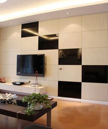 客厅电视背景墙隐形门装修设计