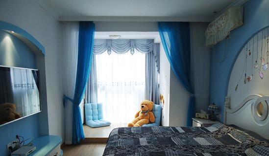 地中海卧室<a href='http://ly.qizuang.com/ ' target='_blank'>装修</a>风格 感受海的气息