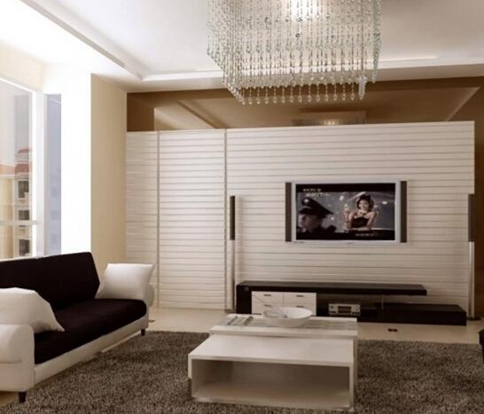有隐形门的电视背景墙