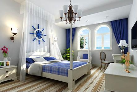 地中海卧室装修风格 拥抱海洋入睡