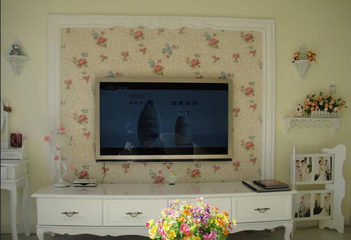 电视墙装修石膏线效果图
