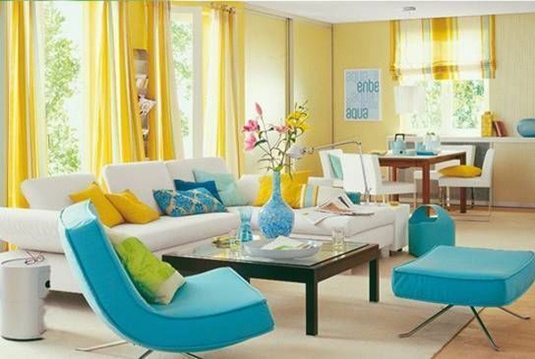 8款糖果色客厅装修效果图 萌你一夏