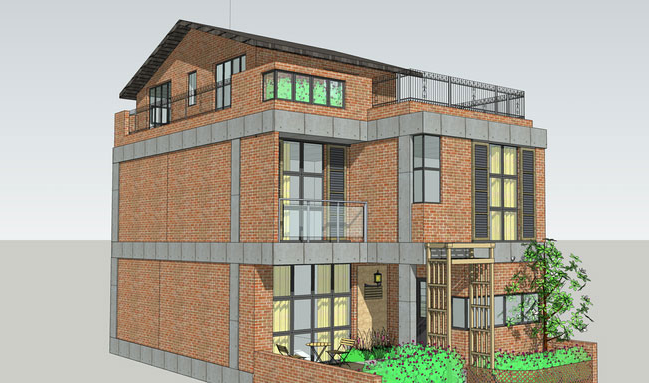 砌体结构设计的3款小洋楼外观效果图