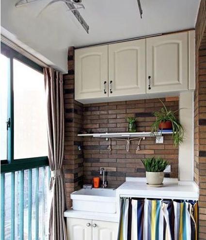 阳台装修有风格,超实用收纳效果
