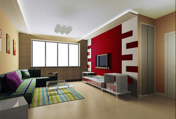 客厅电视背景墙最新流行的使用材料