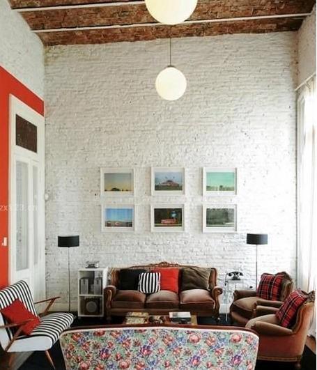 客厅之砖墙装修风格案例欣赏