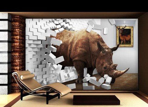2015最流行的3D电视背景墙装修效果图