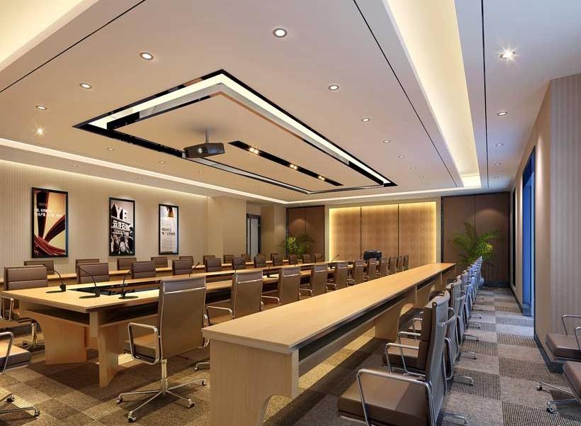 4款中型会议室装修效果图 风格沉稳但不沉闷