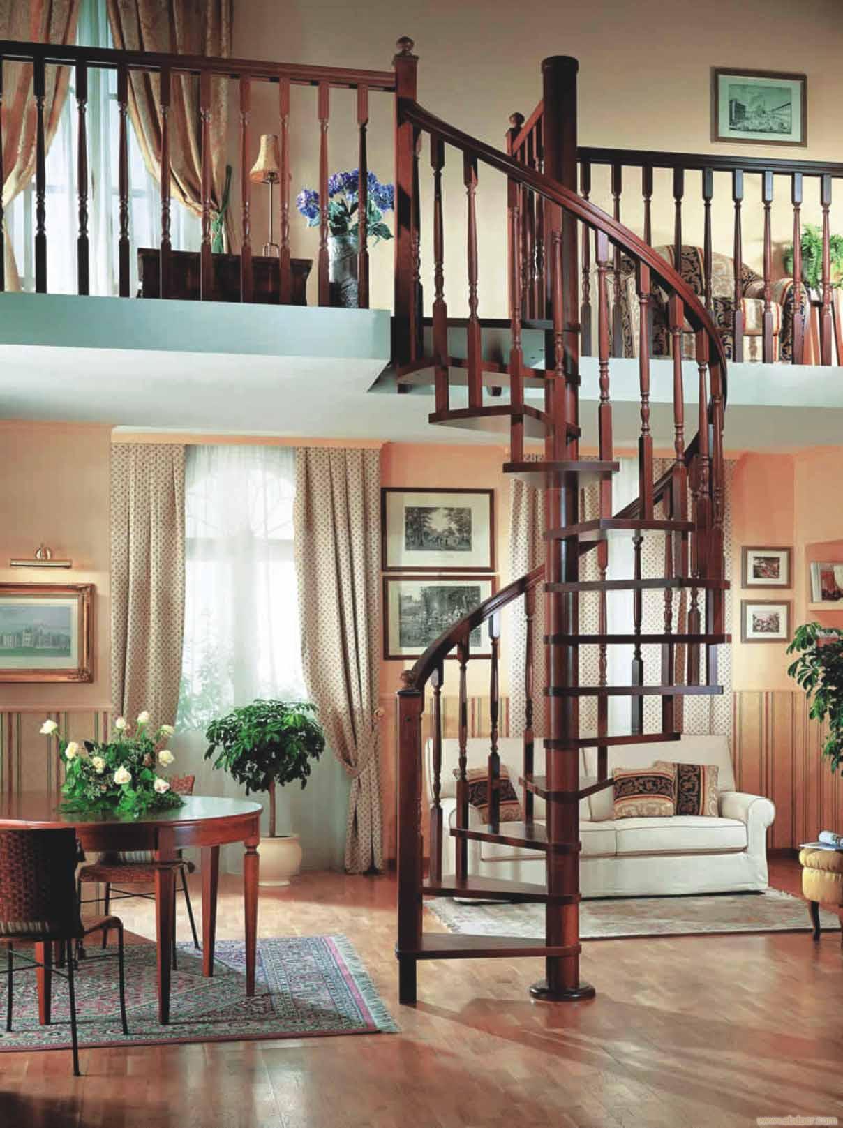 如何选择旋转楼梯尺寸,让居家更有味道!